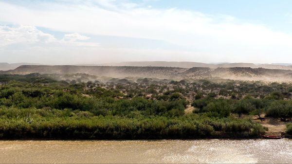 Le Mexique depuis Río Grande Overlook