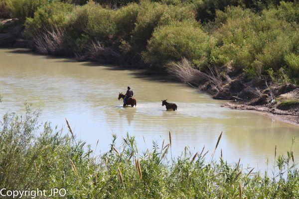 Traversée du Río Grande