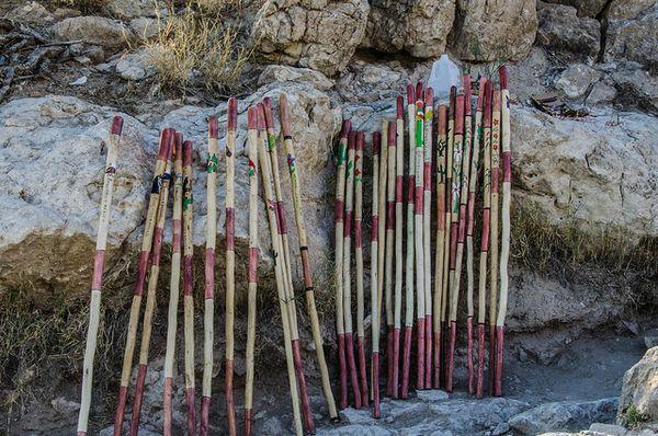 Bâtons de marche de Boquillas Canyon Big Bend