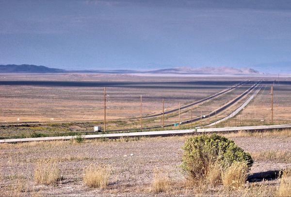 Interstate 80 vers Bonneville Salt Flats