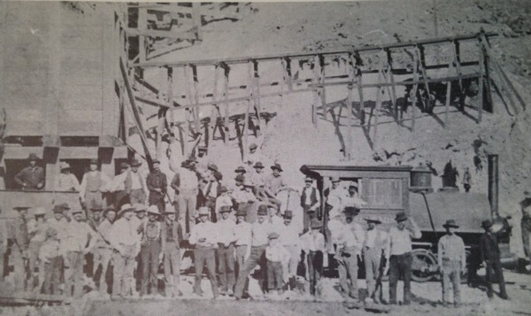 Calico Silver Crew Silver King Mine, circa 1885