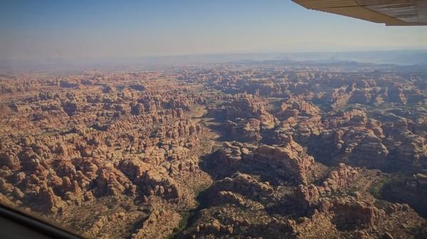 Survol en avion de Canyonlands