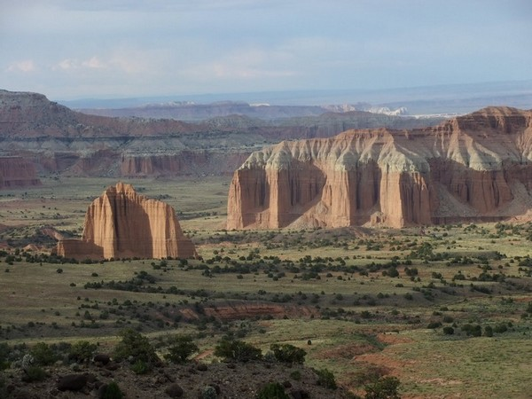 Upper Cathedral Valley Viewpoint Capitol Reef