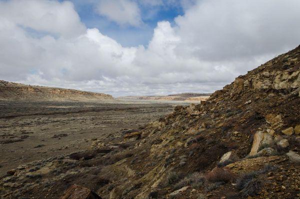 Vue sur Chaco Canyon