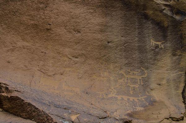 Pétroglyphes de Una Vida Chaco Culture