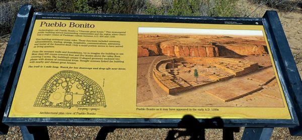"Pueblo Bonito (village en forme de ""D"" typique), tel qu'il était jadis"