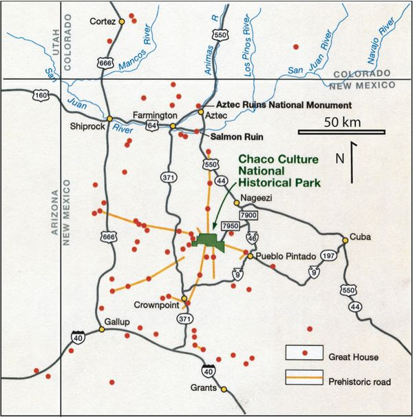 Les routes préhistoriques de Chaco Canyon