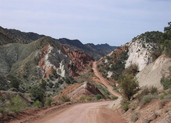 Paysages de la Cottonwood Canyon Road