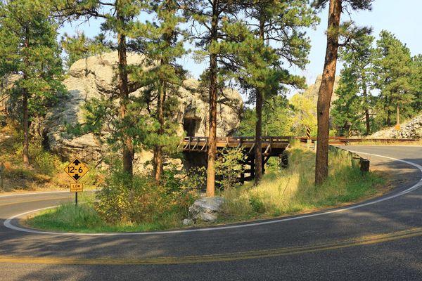 Pigtail bridges Custer State Park