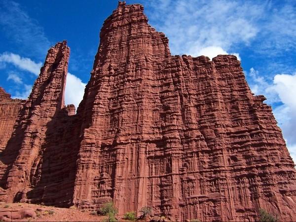Cathédrale naturelle Fisher Towers Utah
