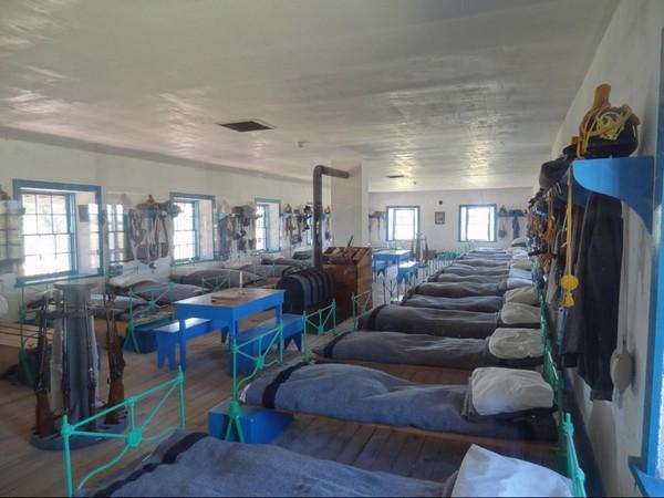 Le dortoir de la cavalerie Fort Laramie