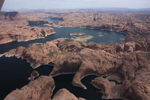 Lake Powell vu d'avion Glen Canyon NRA