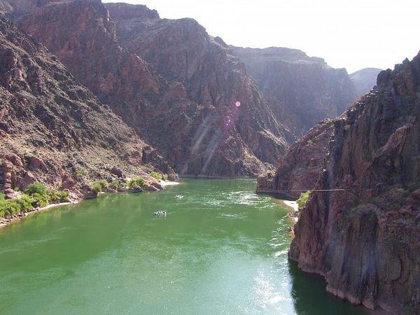 Vert émeraude du fleuve Colorado Grand Canyon Arizona
