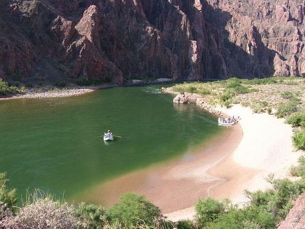 Plage fleuve Colorado Grand Canyon Arizona