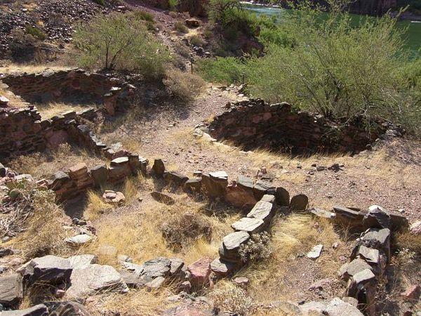 Vestiges d'un village indien ancestral Grand Canyon Arizona