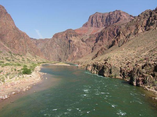 Le Colorado depuis le Silver Bridge Grand Canyon Arizona