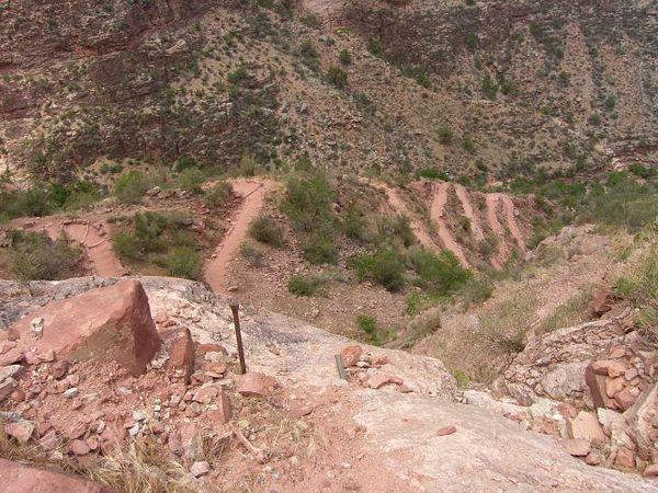 Randonnée Bright Angel Trail Grand Canyon Arizona