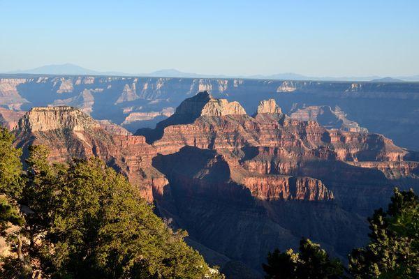 vue depuis Bright Angel Point Grand Canyon rive Nord Arizona