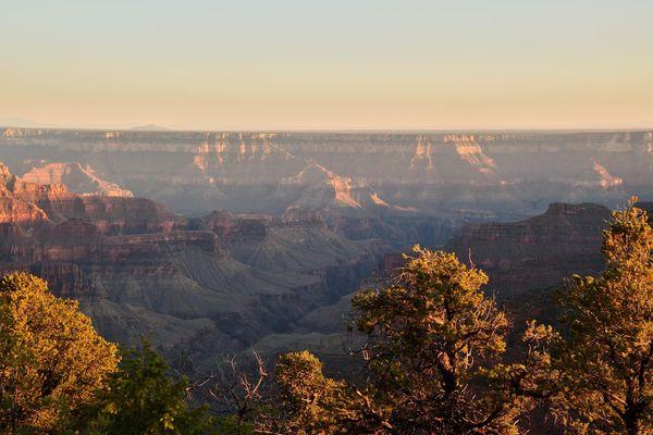 Vue depuis Bright Angel rive nord Grand Canyon Arizona