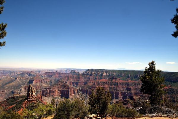 Vue depuis Point Imperial Grand Canyon rive nord Arizona