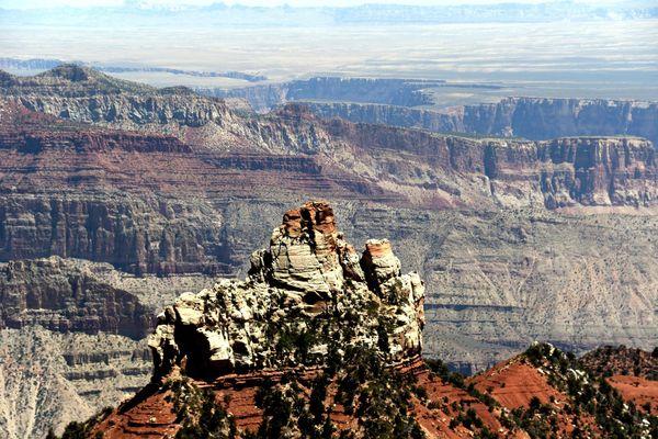 Vue depuis Vista Encantada Grand Canyon rive Nord Arizona