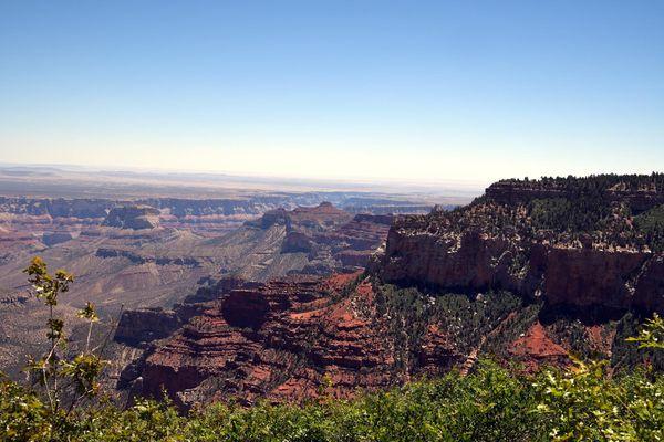 Vue depuis Roosevelt Point rive nord Grand Canyon Arizona