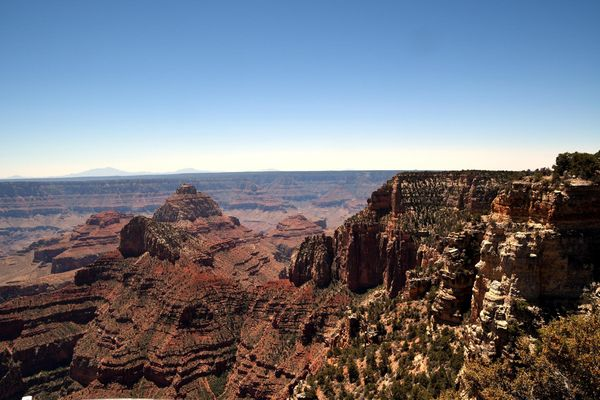 Walhalla Overlook Grand Canyon rive nord Arizona