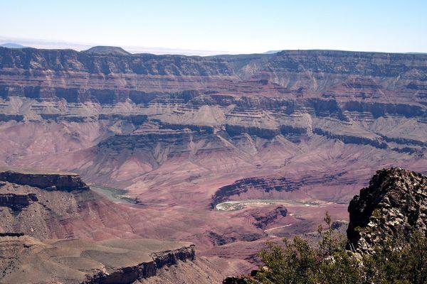 Point de vue après Angels Window rive nord Grand Canyon Arizona
