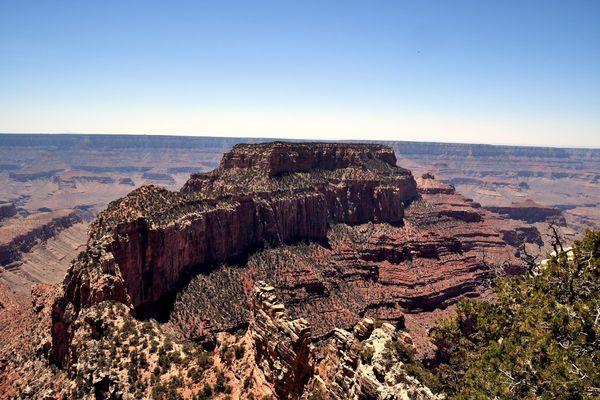 Wotans Throne rive nord Grand Canyon Arizona