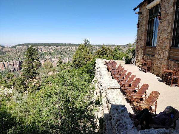 Terrasse du Grand Canyon Lodge rive nord