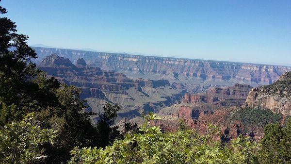 Vue depuis les cabins du Grand Canyon Lodge rive nord