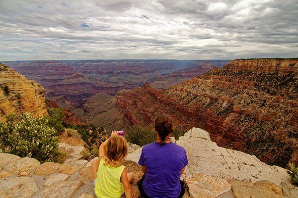 Vue depuis Pipe Creek Vista Grand Canyon rive sud Arizona