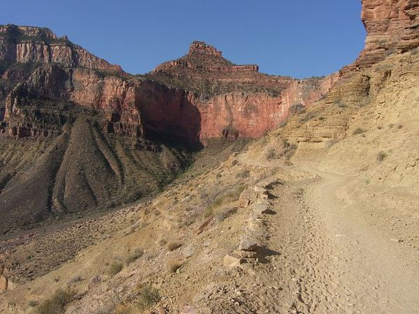 Entre Skeleton Point et le fond du Grand Canyon Arizona