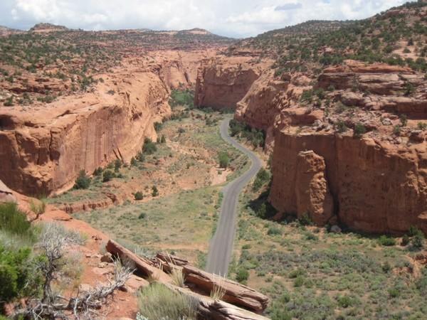 Début de Long Canyon Burr Trail Utah