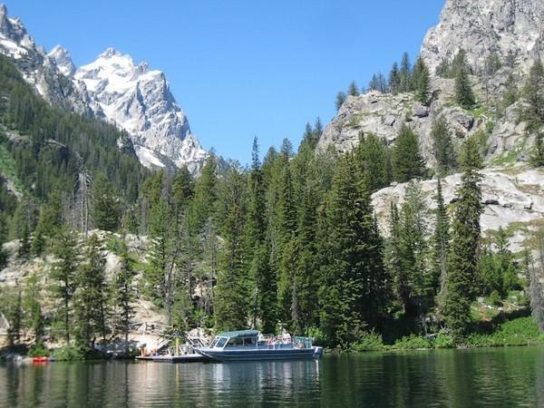 Bateau navette de Jenny Lake Wyoming