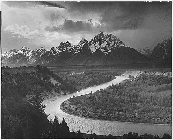 The Tetons - Snake River Ansel Adams, 1942