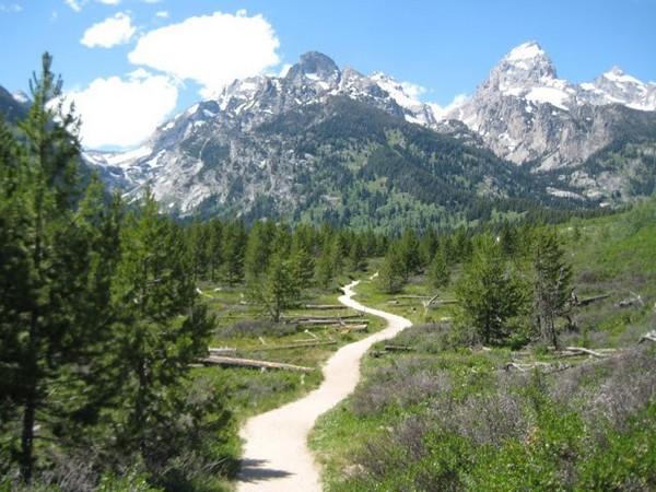 Vers Taggart Lake Wyoming