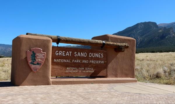Entrée parc Great Sand Dunes Colorado