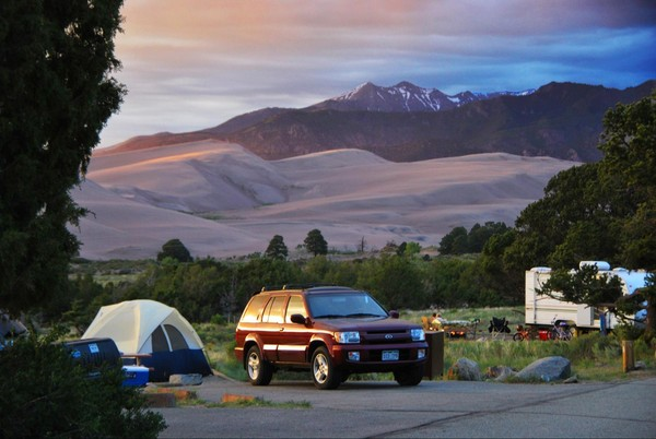 Pinon Flats Campground Great Sand Dunes NP Colorado