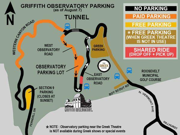 Se garer au Grrifith Park Observatory