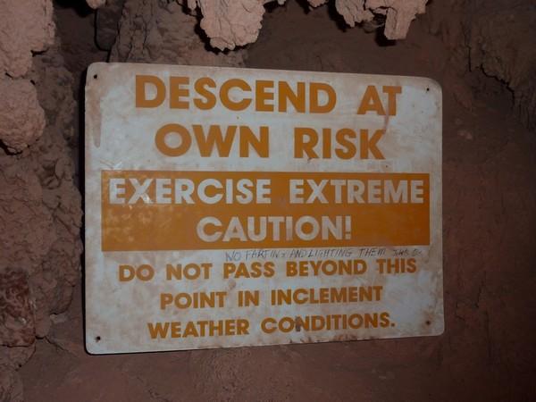 Descend at own risk
