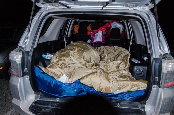 Dormir dans sa voiture au Hualapai Hilltop