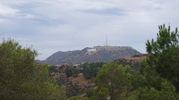Hollywood Sign depuis Griffith Observatory