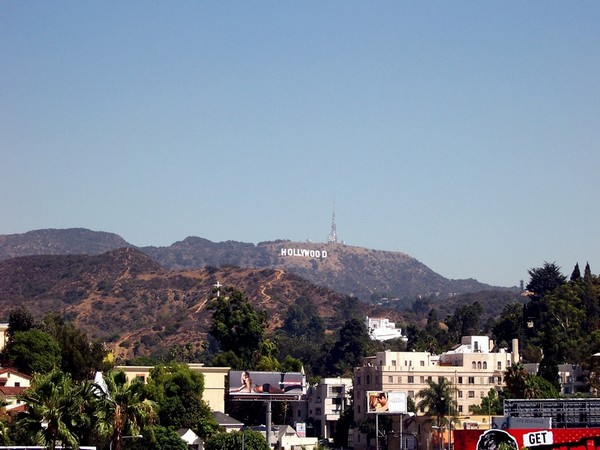 Hollywood Sign depuis Hollywood and Highland Center