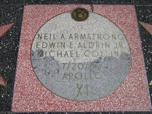 Apollo XI tribute Hollywood Walk of Fame