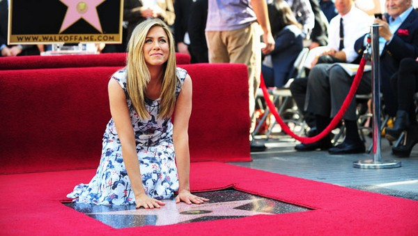 Cérémonie d'intronisation pour Jennifer Aniston Walk of Fame