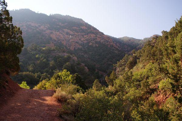 Début du chemin Kanarra Creek Utah