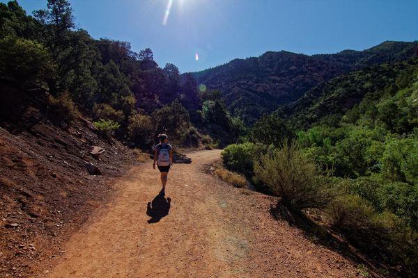 Sur le chemin du canyon de Kanarra Creek en Utah