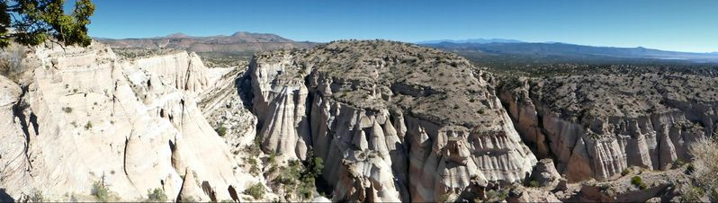 Panorama sommet Slot Canyon Trail Kasha-Katuwe Tent Rocks
