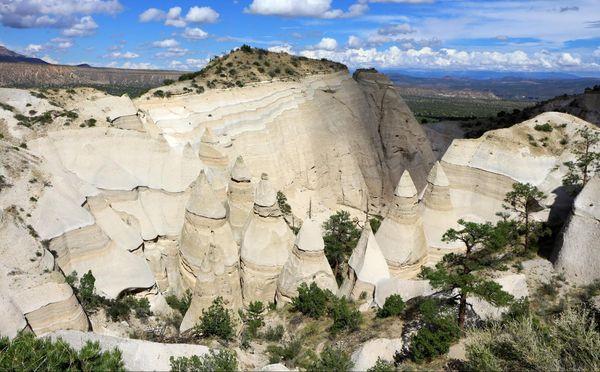 Au sommet de la mesa Slot Canyon Trail Kasha-Katuwe Tent Rocks